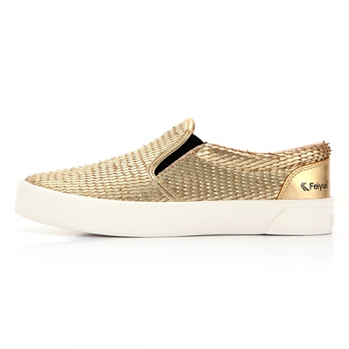 [UNISEX] FE SLIP ON / DRAGON SCALE LEATHER GOLD / F20061W