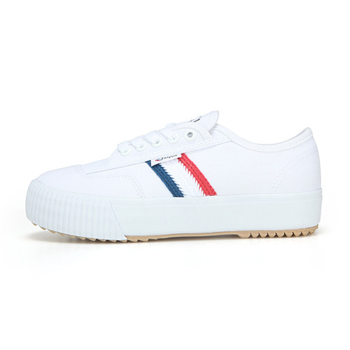 [라스트사이즈]FE LO PLAIN PLATFORM /WHITE CANVAS W/RED/WHITE/BLUE/FW100073