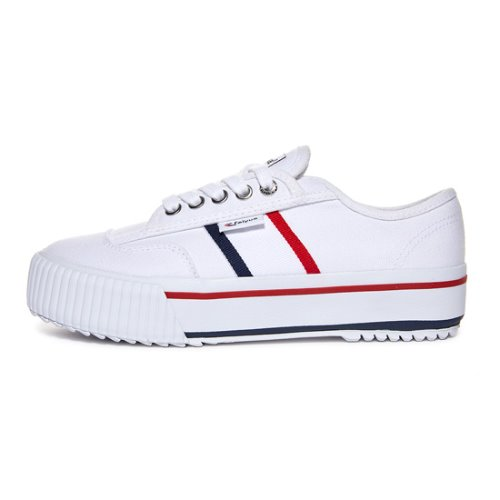 [라스트사이즈] FE LO PLAIN PLATFORM / WHITE/RED/NAVY / FUS10007
