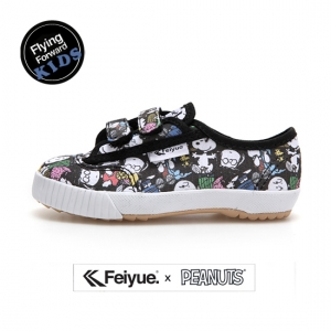 PEANUTS X FE LO KID BLACK MULTI PRINTS / F30167T