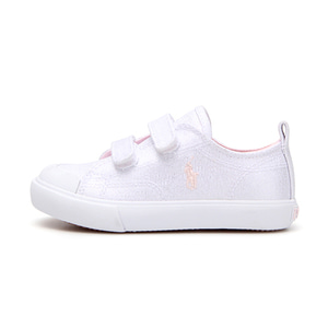 [CHILD] KINGSLEY EZ / WHITE SHIMMER CANVAS W/ LIGHT PINK PP/ RF101431C