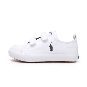 [TODDLER] KINGSLEY EZ / WHITE CANVAS W/ NAVY PP/ RF101617T