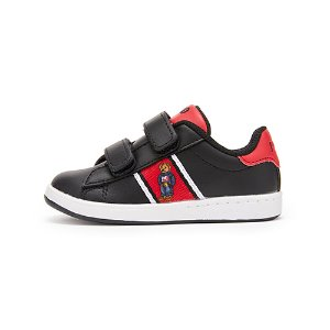 [TODDLER] QUILTON BEAR EZ / BLACK LEATHER/RED/BLACK/WHITE W/ AMERICANA BOY BEAR & WHITE MIDSOLE / RF101959T