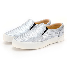 [UNISEX] FE SLIP ON / DRAGON SCALE LEATHER SILVER / F20062W