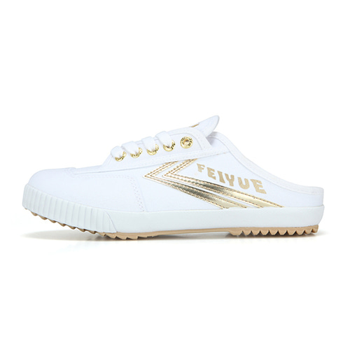 [4월10일부터 순차배송]FE LO MULE/WHITE CANVAS GOLD/ FW100077