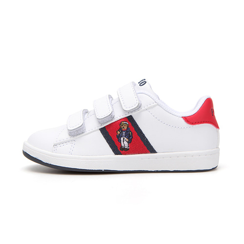 [CHILD] QUILTON BEAR EZ / WHITE LEATHER/RED/NAVY STRIPING AND NAUTICAL BEAR/ RF101641C