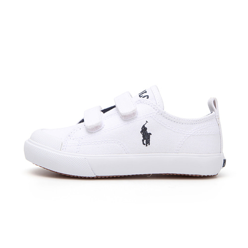 [CHILD] KINGSLEY EZ / WHITE CANVAS W/ NAVY PP/ RF101617C