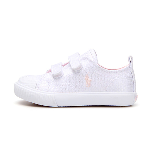 [TODDLER] KINGSLEY EZ / WHITE SHIMMER CANVAS W/ LIGHT PINK PP/ RF101431T