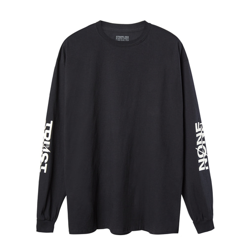 TRUST NONE L/S / BLACK / LT200801