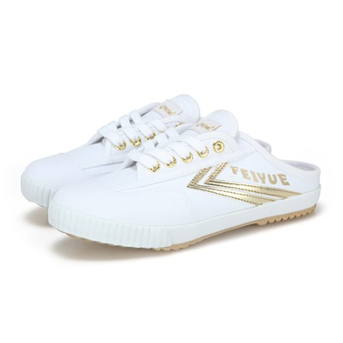 FE LO MULE/WHITE CANVAS GOLD/ FW100077