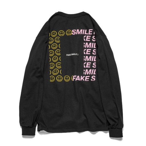 FAKE SMILE L/S / BLACK / LT202001S