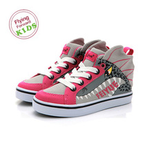 DELTA KID ANIMAL CHARCOAL GREY FUCHSIA / F30036T